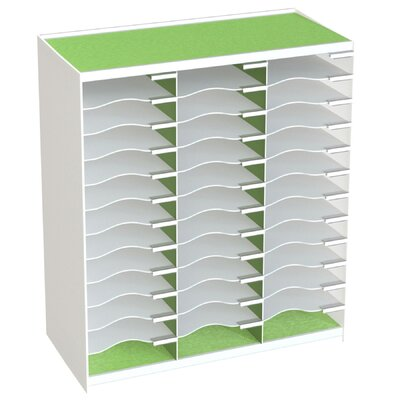 36 Compartment Master Literature Organizer Color: Green