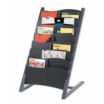 Seven Pocket Floor Literature Display Finish: Charcoal