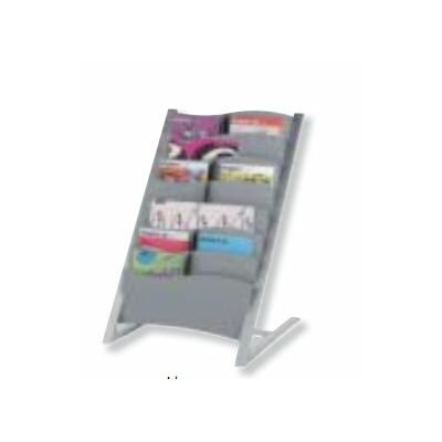 Seven Pocket Floor Literature Display Finish: Silver