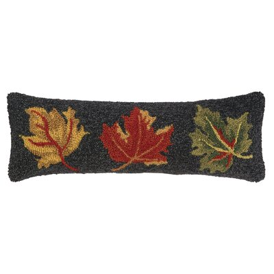 Fall Leaves Hook Wool Throw Pillow