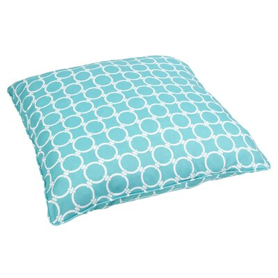 Mozaic Company Stella Indoor/Outdoor Floor Pillow - Fabric: Link Aqua