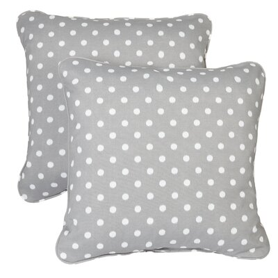Midkiff Indoor/Outdoor Throw Pillow Fabric: Grey Dots, Size: 18 H x 18 W