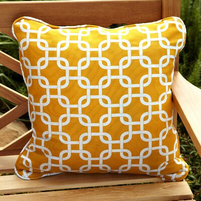 Midwood Indoor/Outdoor Throw Pillow Fabric: Knotted Yellow, Size: 22 H x 22 W