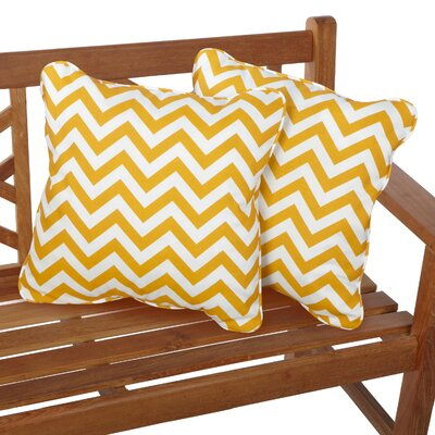 Middletown Indoor/Outdoor Throw Pillow Fabric: Chevron Yellow, Size: 18 H x 18 W