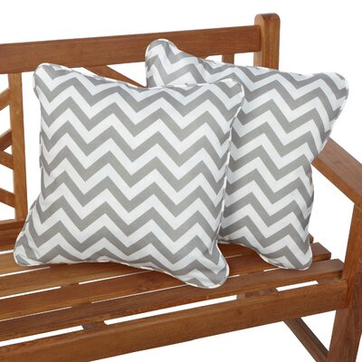 Middletown Indoor/Outdoor Throw Pillow Fabric: Chevron Grey, Size: 22 H x 22 W