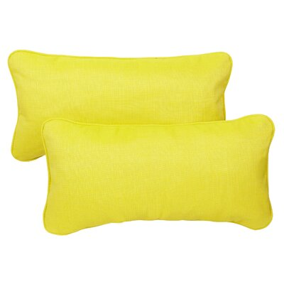 "Mozaic Company Lumbar Throw Pillows (Set of 2) - Size: 13"" x 20"", Fabric: Yellow / Green at Sears.com"