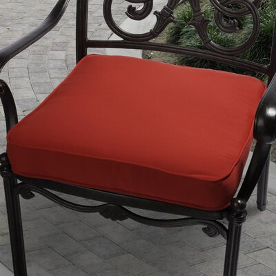 Outdoor Sunbrella Dining Chair Cushion Fabric: Red, Size: 19 W x 19 D