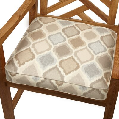 Outdoor Sunbrella Dining Chair Cushion Size: 19 W x 19 D