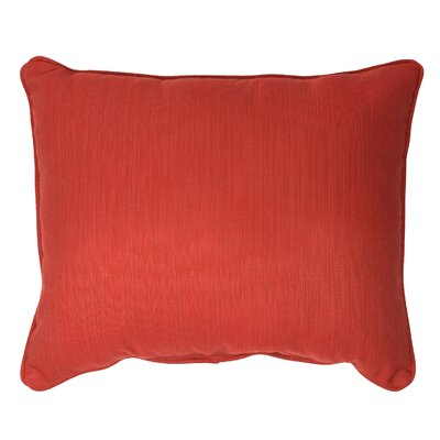 Outdoor Sunbrella Lumbar Pillow Size: 13 H x 20 W, Fabric: Textured Red