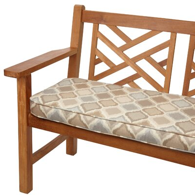 Outdoor Sunbrella Bench Cushion Size: 48 W x 19 D