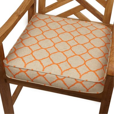 Outdoor Sunbrella Dining Chair Cushion Size: 19 W x 19 D