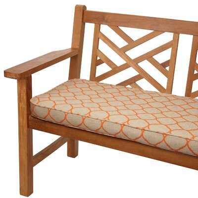 Outdoor Sunbrella Bench Cushion Size: 60 W x 19 D
