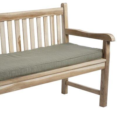 Outdoor Sunbrella Bench Cushion Size: 48 W x 19 D, Fabric: Dupione Laurel