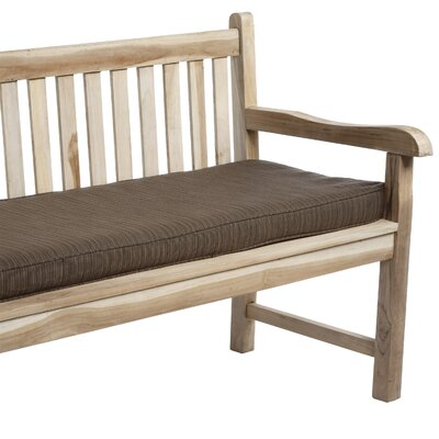 Outdoor Sunbrella Bench Cushion Size: 48 W x 19 D, Fabric: Dupione Walnut