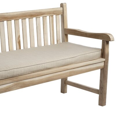 Outdoor Sunbrella Bench Cushion Size: 48 W x 19 D, Fabric: Dupione Sand