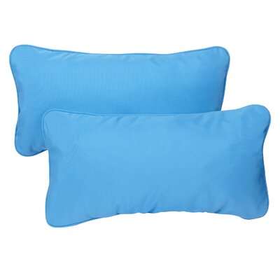Derrytown Indoor/Outdoor Sunbrella Lumbar Pillow Color: Capri, Size: 12 H x 24 W
