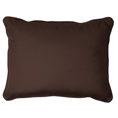 Derrytown Indoor/Outdoor Sunbrella Lumbar Pillow Color: Bay Brown, Size: 13 H x 20 W
