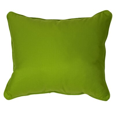 Derrytown Indoor/Outdoor Sunbrella Lumbar Pillow Color: Cilantro Green, Size: 12 H x 24 W