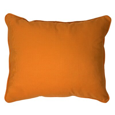 Derrytown Indoor/Outdoor Sunbrella Lumbar Pillow Size: 13 H x 20 W, Color: Tangerine