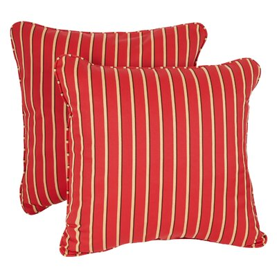 Midford Outdoor Sunbrella Throw Pillow Size: 18 H x 18 W