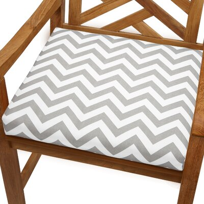 Bree Outdoor Dining Chair Cushion Size: 20 x 20, Fabric: Grey Chevron