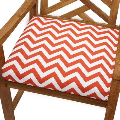 Bree Outdoor Dining Chair Cushion Size: 20 x 20, Fabric: Orange Chevron