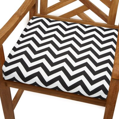 Bree Outdoor Dining Chair Cushion Size: 19 x 19, Fabric: Black Chevron