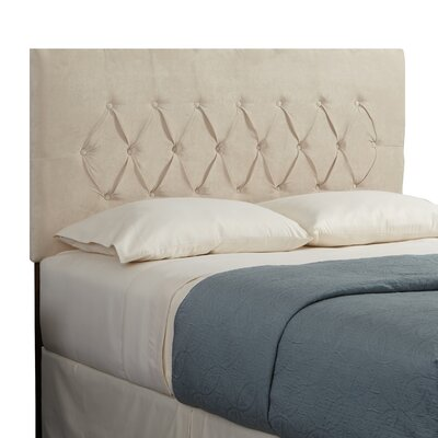 Mozaic Company Haven Diamond Upholstered Headboard - Size: Full, Color: Ivory