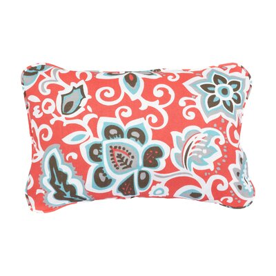 Stella Floral Indoor/Outdoor Lumbar Pillow Color: Coral