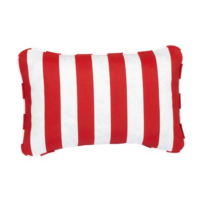 Stella Striped Indoor/Outdoor Lumbar Pillow Color: Red