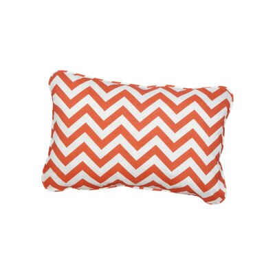 Stella Chevron Indoor/Outdoor Lumbar Pillow Color: Orange