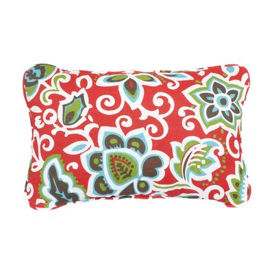 Stella Floral Indoor/Outdoor Lumbar Pillow Color: Red