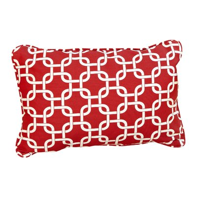 Stella Knotted Indoor/Outdoor Lumbar Pillow Color: Red