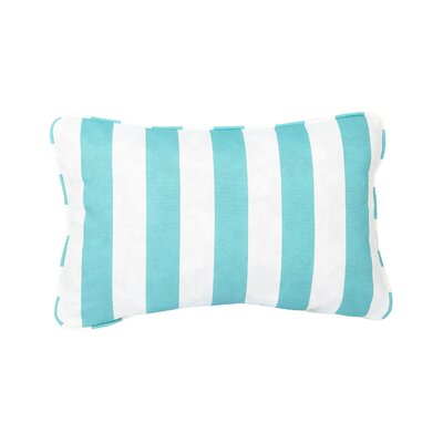 Stella Striped Indoor/Outdoor Lumbar Pillow Color: Navy