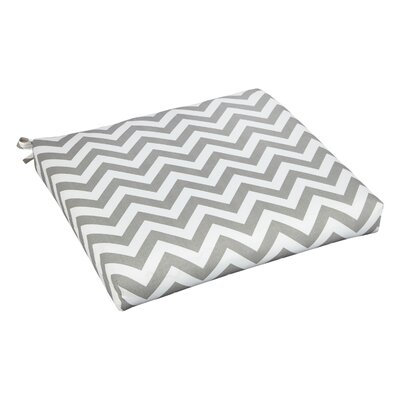 Bree Outdoor Dining Chair Cushion Fabric: Grey Chevron, Size: 20 W x 20 D