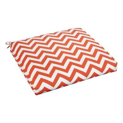 Bree Outdoor Dining Chair Cushion Fabric: Orange Chevron, Size: 20 W x 20 D