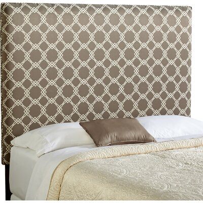 Berrington Queen Upholstered Panel Headboard Upholstery: Grey