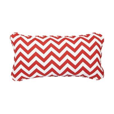 Stella Chevron Indoor/Outdoor Lumbar Pillow Color: Red