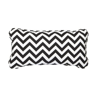 Stella Chevron Indoor/Outdoor Lumbar Pillow Color: Black