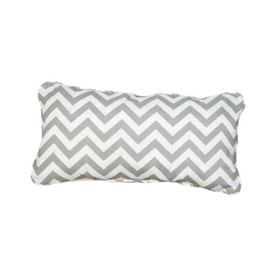 Stella Chevron Indoor/Outdoor Lumbar Pillow Color: Grey