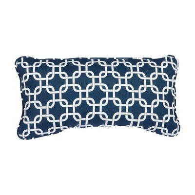 Stella Knotted Indoor/Outdoor Lumbar Pillow Color: Navy
