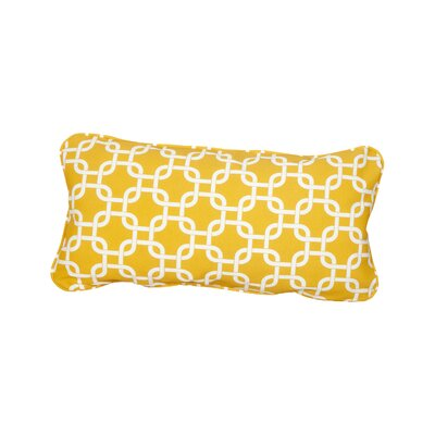 Stella Knotted Indoor/Outdoor Lumbar Pillow Color: Yellow