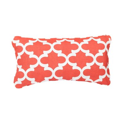 Stella Scalloped Indoor/Outdoor Lumbar Pillow Color: Coral
