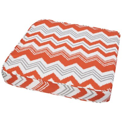 Stella Outdoor Dining Chair Cushion Fabric: Tango ZigZag, Size: 19 W x 19 D