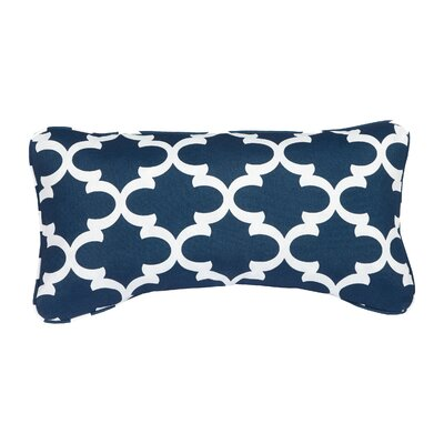 Stella Scalloped Indoor/Outdoor Lumbar Pillow Color: Navy