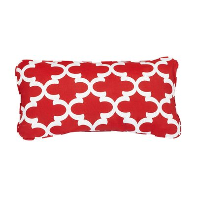Stella Scalloped Indoor/Outdoor Lumbar Pillow Color: Red