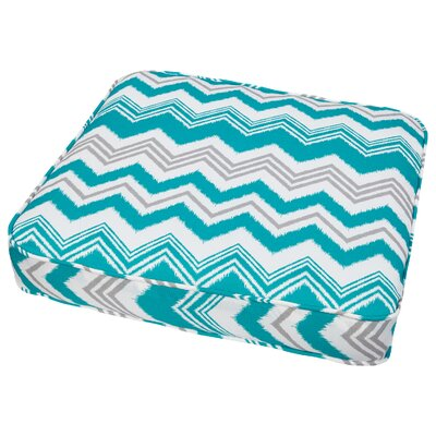 Stella Outdoor Dining Chair Cushion Size: 19 W x 19 D, Fabric: Teal ZigZag