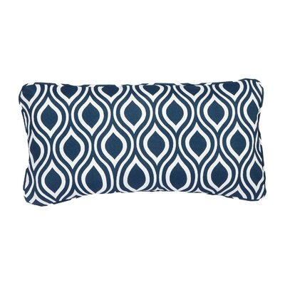 Stella Navy Wavy Indoor/Outdoor Lumbar Pillow