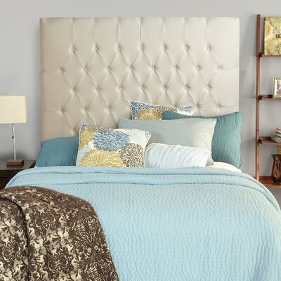 Laurent Upholstered Panel Headboard Size: Full, Upholstery: Ivory