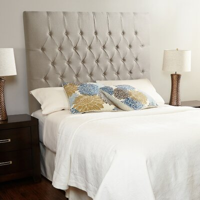 Laurent Upholstered Panel Headboard Size: Full, Upholstery: Beige Linen